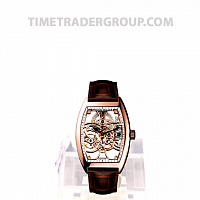 Franck Muller Skeleton Rose Gold Brown Leather 8880 B S6 SQT