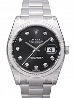 Rolex 116234 Datejust 36 Black Diamond Oyster