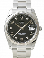 Rolex 115234 Date 34 Black Diamond Oyster