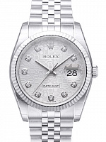 Rolex 116234 Datejust 36 Silver Diamond Jubilee