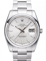 Rolex 115200 Date 34 Silver Index Oyster