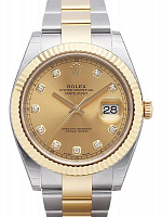 Rolex 126333  Datejust 41 Champagne Diamond Oyster
