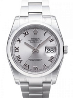 Rolex 116200 Datejust 36 Silver Roman Oyster