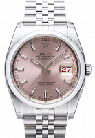 Rolex 116200 Datejust 36 Pink Index Jubilee