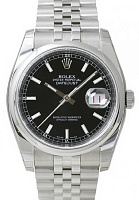 Rolex 116200 Datejust 36 Black Index Jubilee