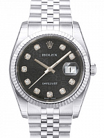 Rolex 116234 Datejust 36 Black Diamond Jubilee