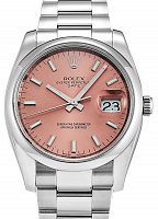 Rolex 115200 Date 34 Pink Index Oyster